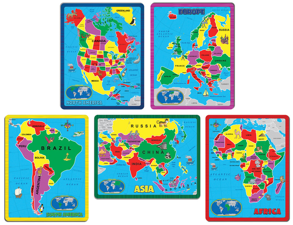 171 Piece Continent Combo Puzzle Pack
