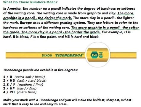 12ct Ticonderoga Primary Pencils without Erasers