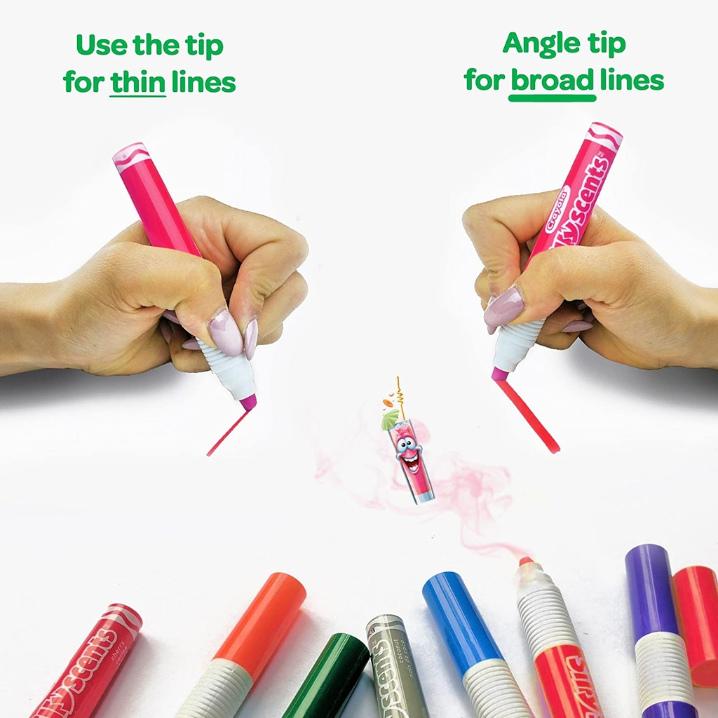 12ct Crayola Silly Scents Chisel Markers