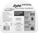 12 Color Fine Tip Expo Low Oder Dry Erase Markers