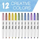 2117329 SAN 12 COUNT SHARPIE S-NOTE PERMANENT MARKERS COLORS