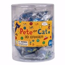 24ct Pete the Cat 3D Eraser
