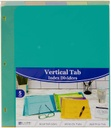 5 Tab Index Dividers with Vertical Tab