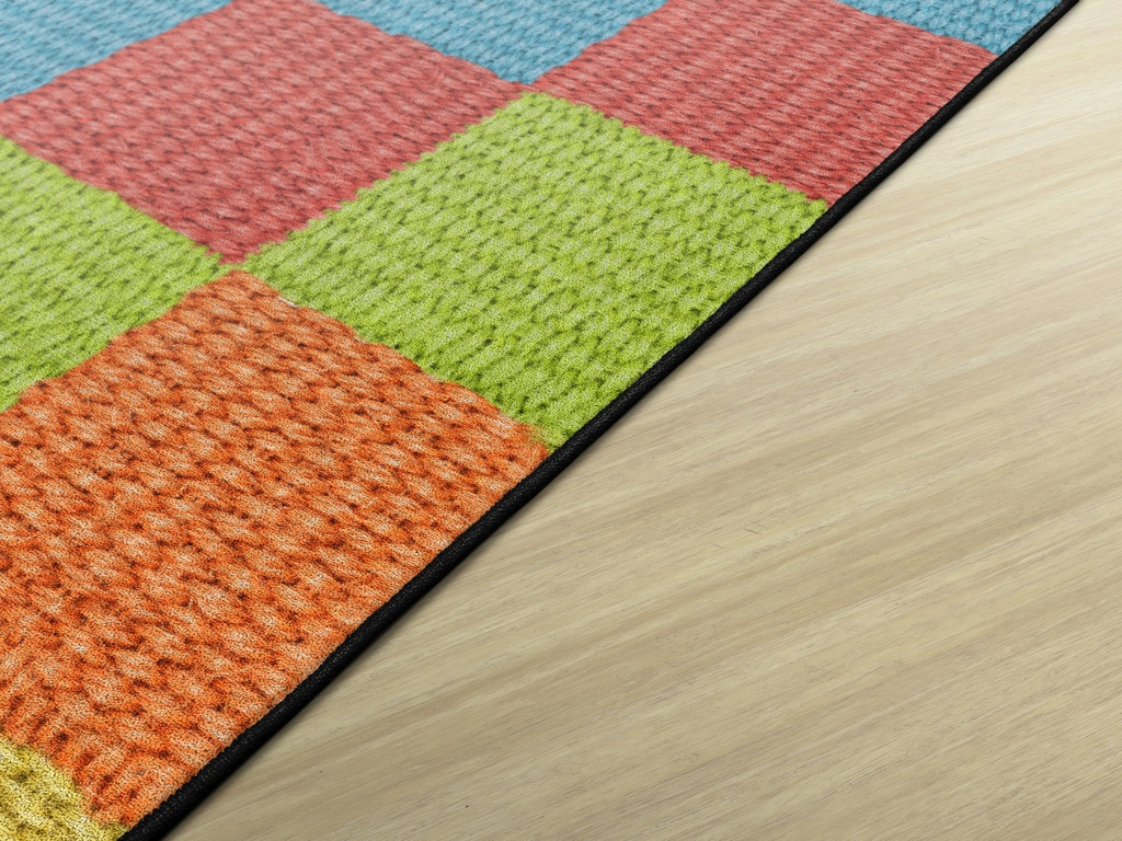 10ft 6 x 13ft 2 Cozy Basketweave Blocks/Multi