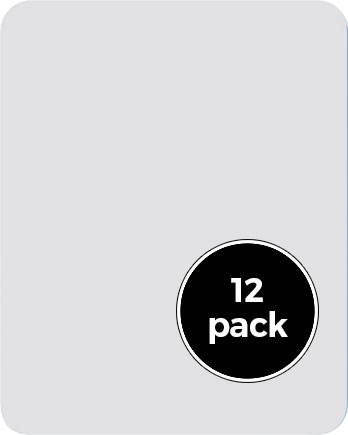 12ct 5in x 7in Dry Erase Board Pack