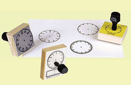 3 Clock Stamp Set