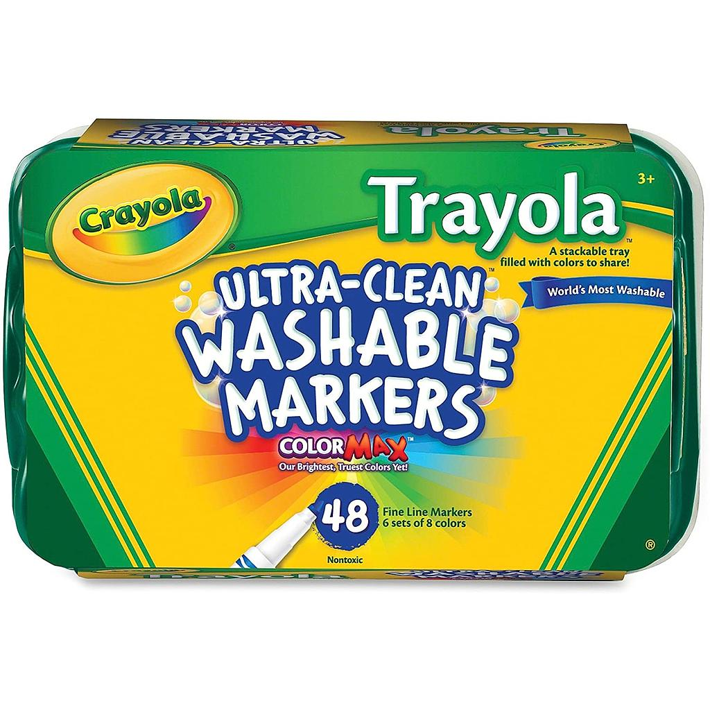 48ct Trayola Washable Fine Tip Markers
