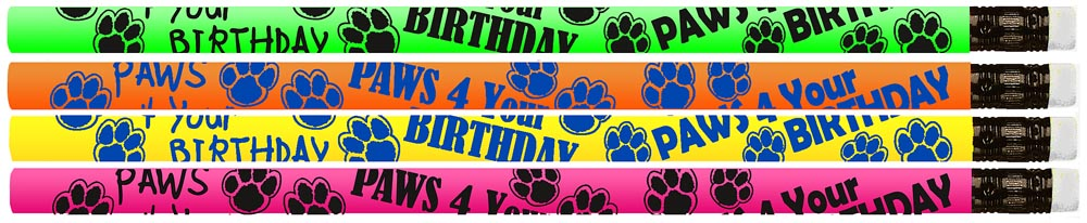 12ct Paws 4 Your Birthday Pencils