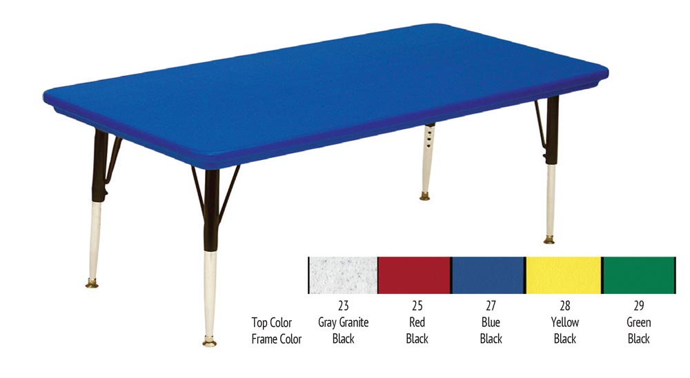 24in X 48in Blow Molded Rectangle Activity Table