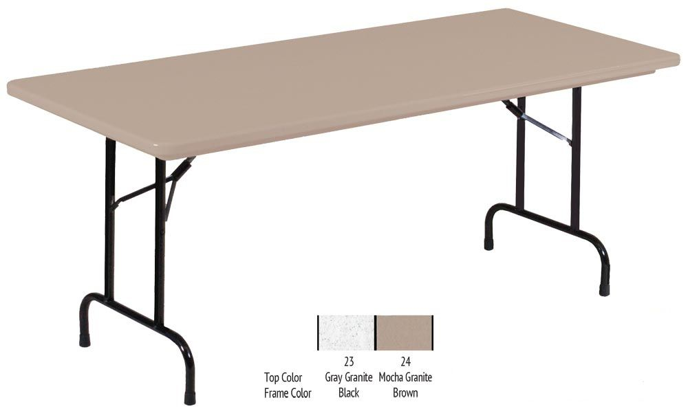30x96x29 Blow Molded Folding Table