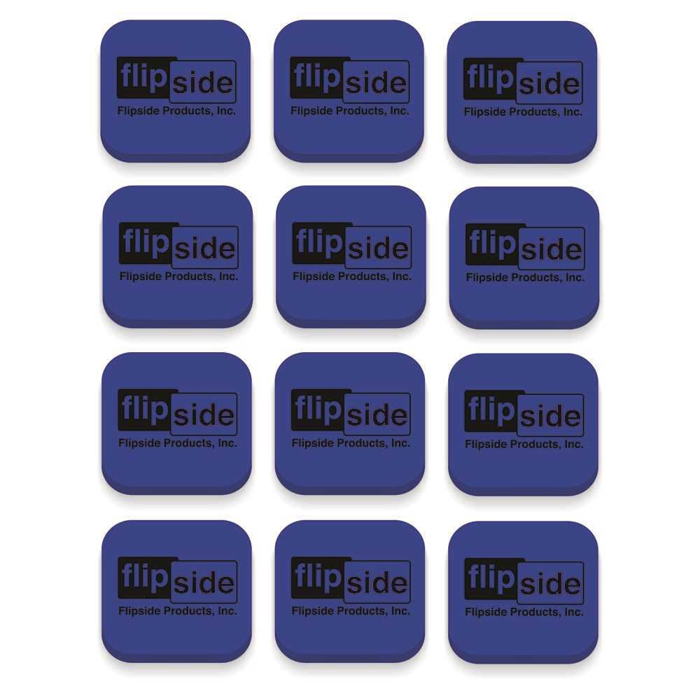 12ct Blue Magnetic Whiteboard Erasers