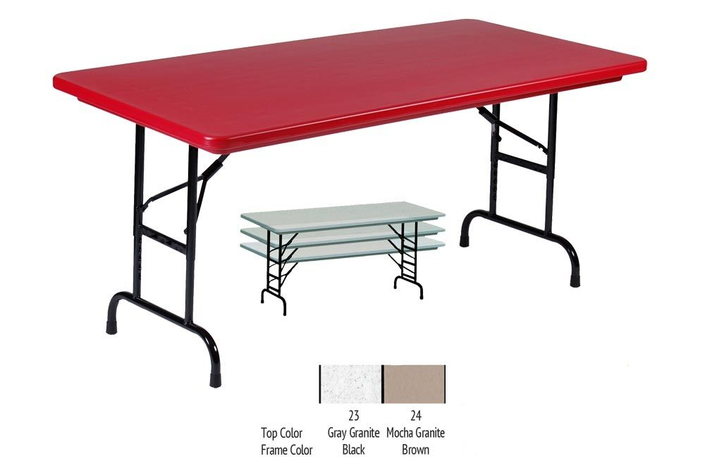 30x96 Adj Height Blow Molded Folding Table