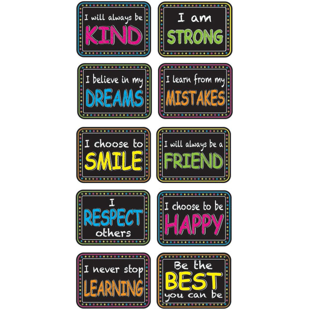 10ct Character Building Non-Magnetic Mini Whiteboard Erasers