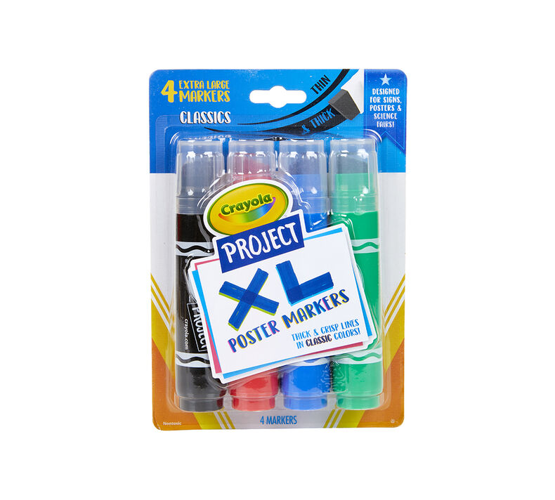 4ct Crayola Classic Colors Project XL Poster Markers