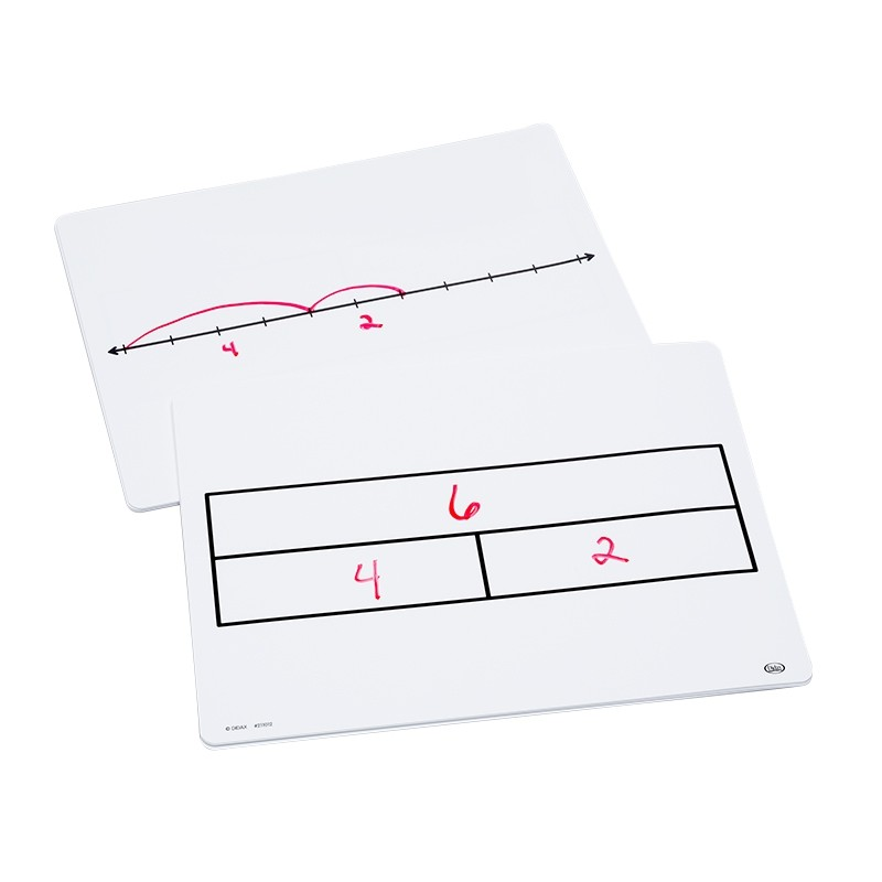 10ct Write-On/Wipe-Off Part-Part-Whole/Number Line Mats
