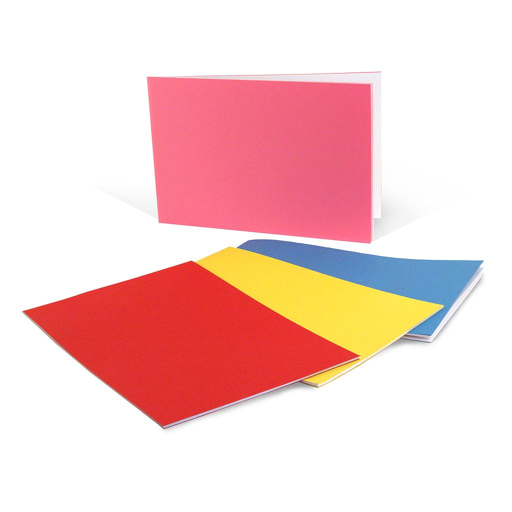 "20ct Bright Colors Horizontal Style Blank Books 5.5"" x 8.5"""