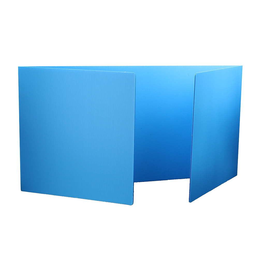"24ct Blue 18"" Premium Plastic Study Carrel"