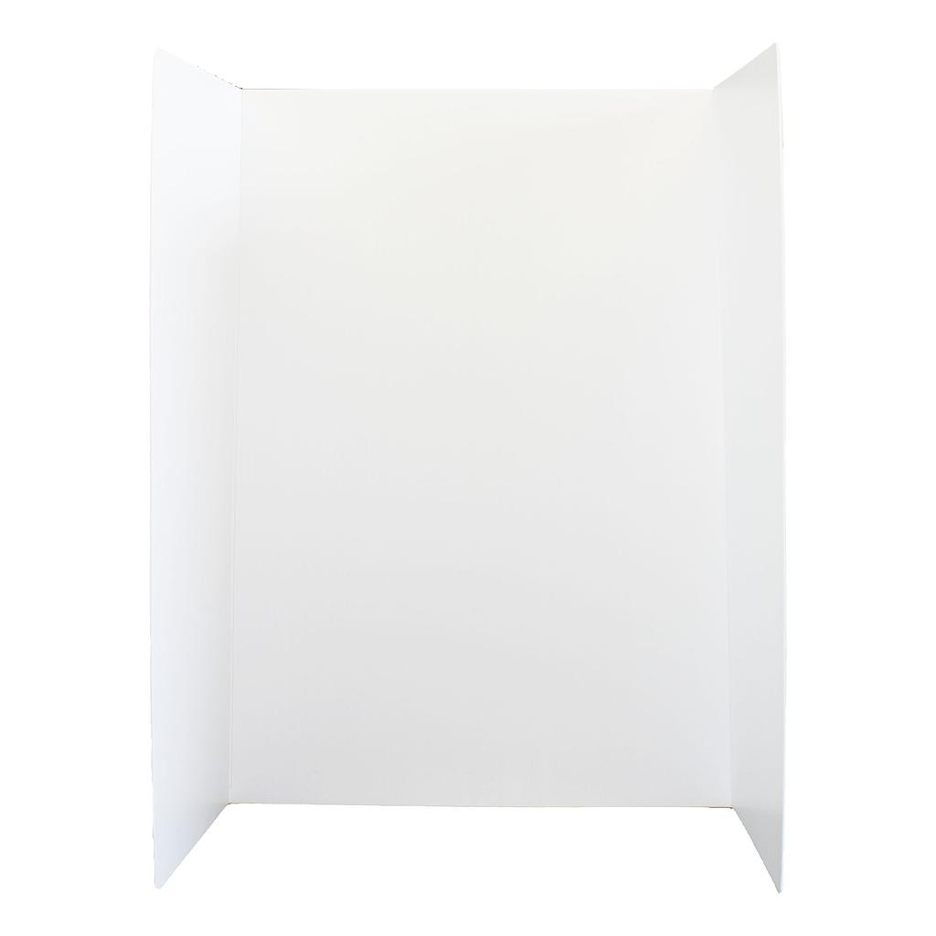 "10ct White 36"" x 48"" Premium Plastic Corrugated Project Display Boards"