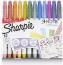 12ct Sharpie S-Note Permanent Markers