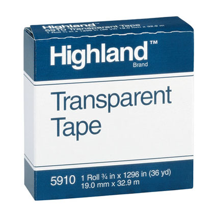 "1/2"" Highland Transparent Tape Roll"