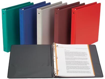 1/2 inch Red Round Ring Binder