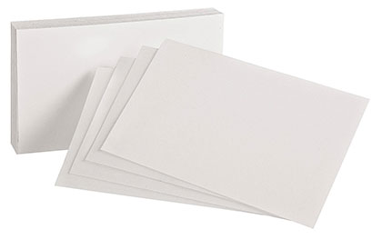 100ct 4x6 White Blank Index Cards