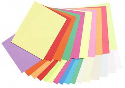 100ct 8.5x11 5 Bright Colors Array Card Stock