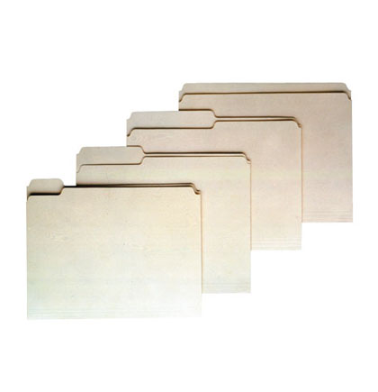 100ct Straight Cut Manila File Folders  Box