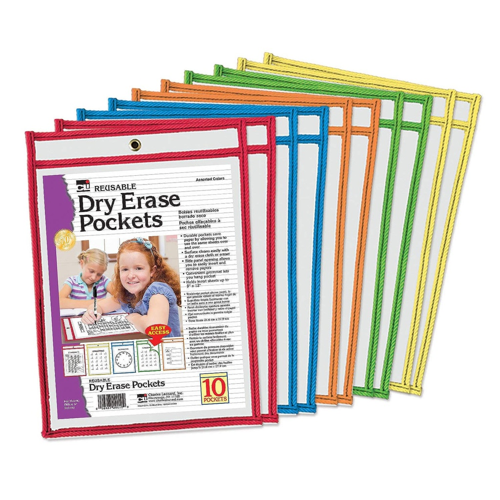 10ct Dry Erase Pockets