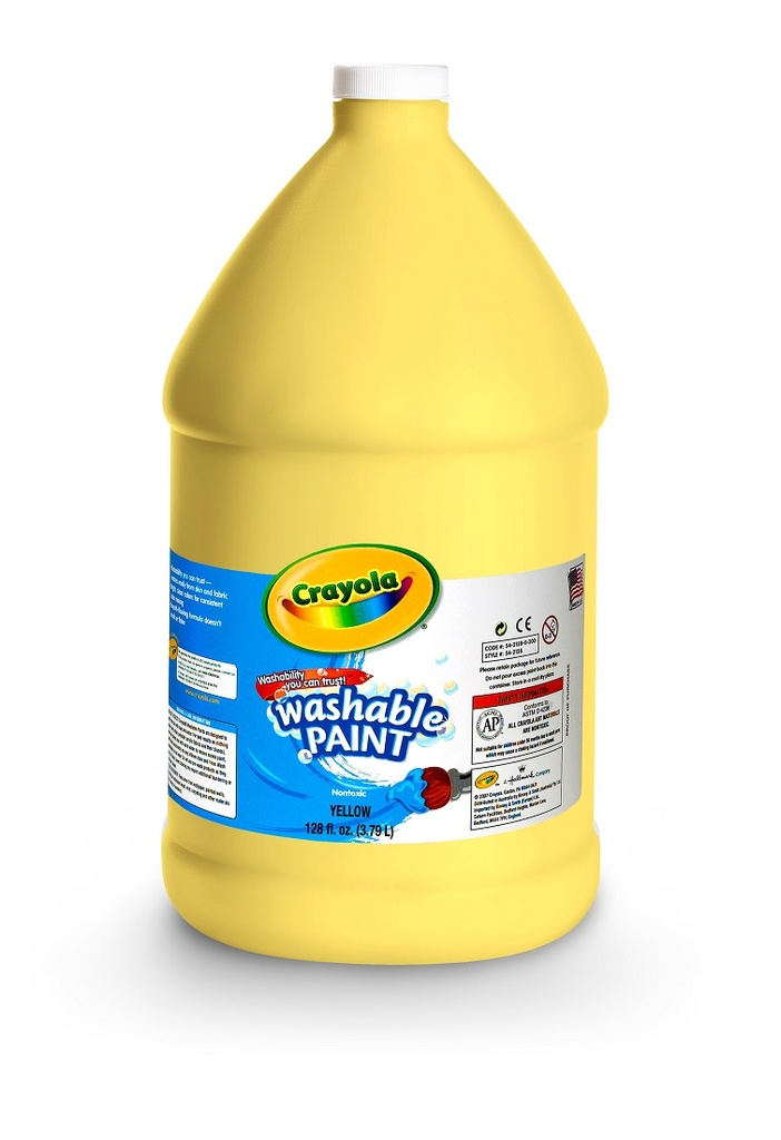128oz Yellow Crayola Washable Paint     Ea