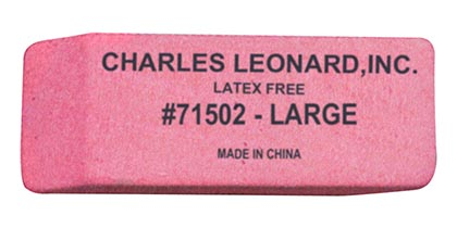 12ct Large Pink Synthetic Wedge Erasers