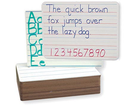 12ct Magnetic 2 Sided Dry Erase Boards