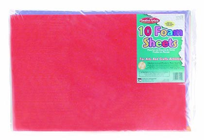 12x18 Assorted Foam Sheets 10 Count     Pack
