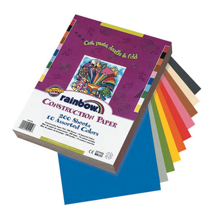 12x18 Assorted Rainbow Construction Paper 100ct Pack