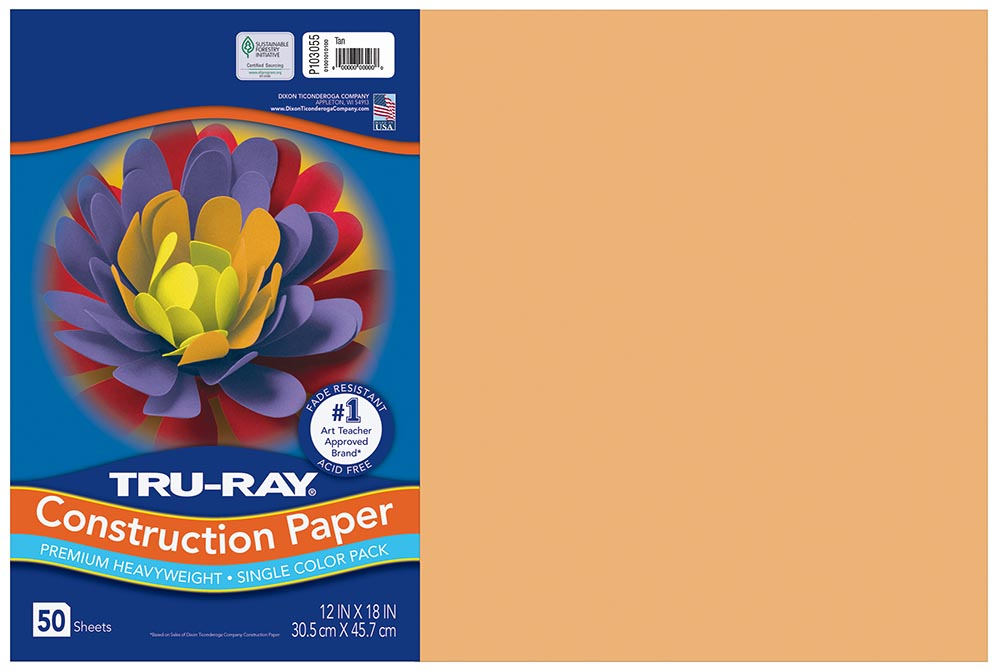 12x18 SalmonTru-Ray Construction Paper 50ct Pack (103055 PAC)