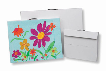 14in x 17in Heavy Duty White Corrugated Portfolio