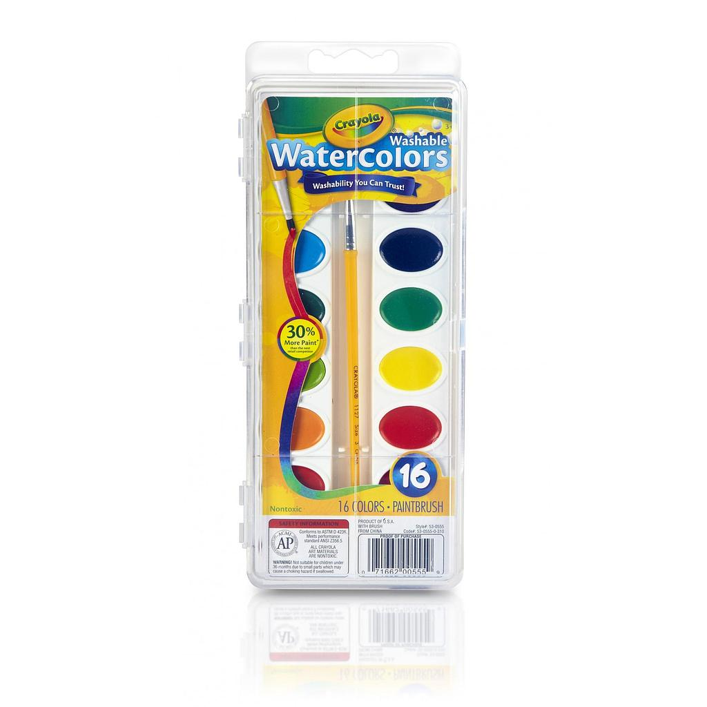 16 Pan Crayola Washable Watercolor