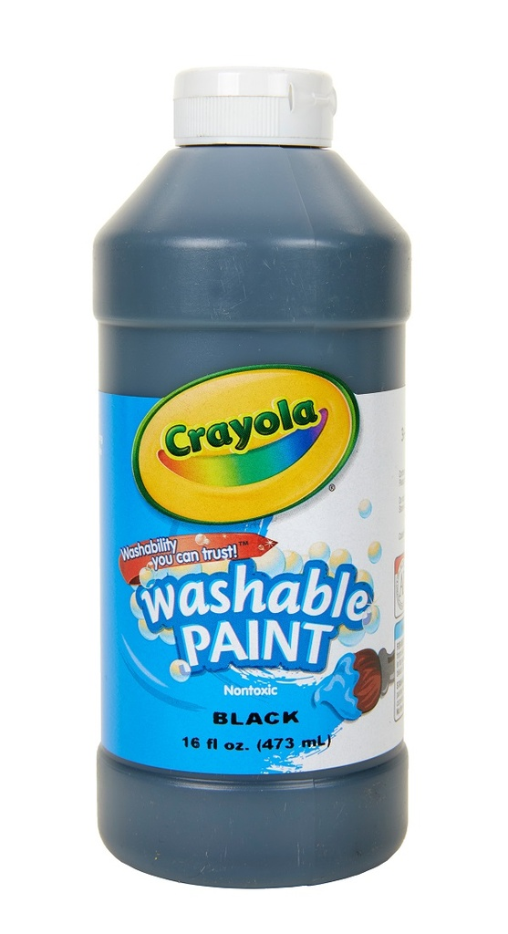 16oz Black Crayola Washable Paint       EA