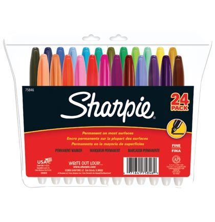 24ct Fine Sharpie Permanent Markers