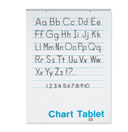 24x16 1.5 inch Ruled Colored Chart Tablet