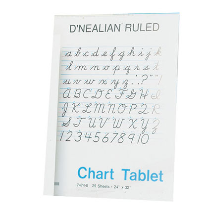 24x32 2in Rule DNealian Cursive Chart Tablet