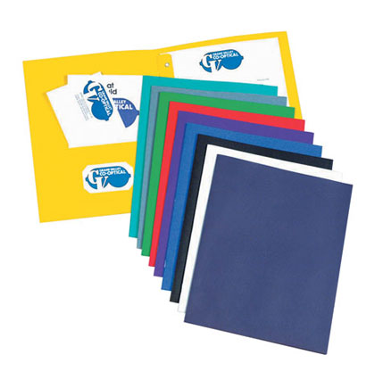 25ct Dark Blue Two Pocket Portfolio with Prongs