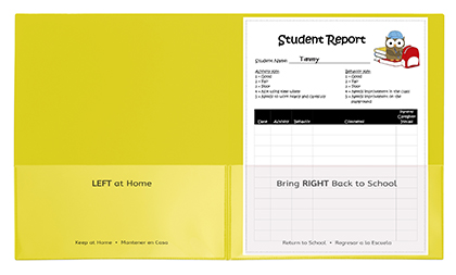 25ct Yellow Classroom Connector Two Pocket Portfolio