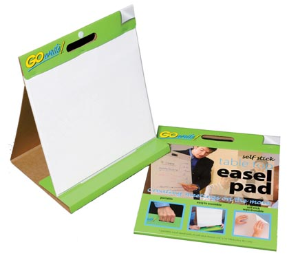 25sht 16x15 GoWrite Self Stick Tabletop Easel Pad