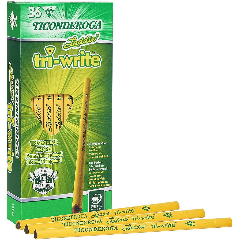 36ct No2 Triwrite Laddie Pencils without Eraser