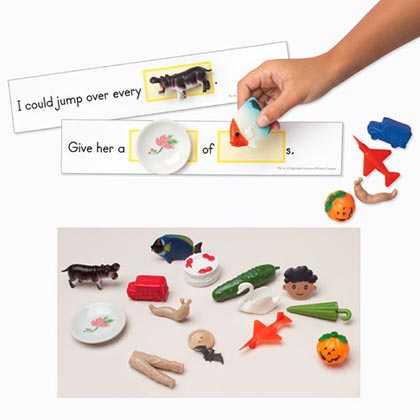 3D Sight Word Sentences with Real life Objects Gr 1