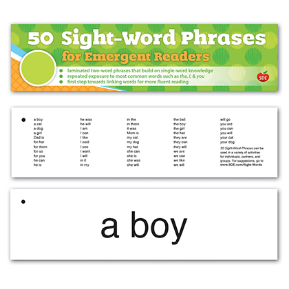 50 Sight Word Phrases for Emergent Readers