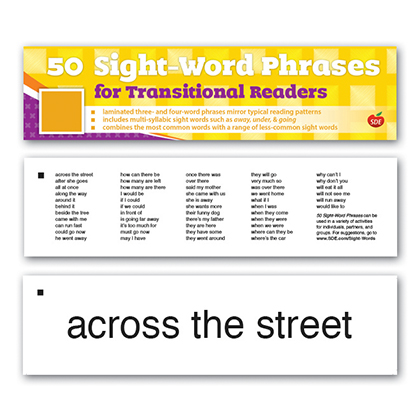 50 Sight Word Phrases for Transitional Readers