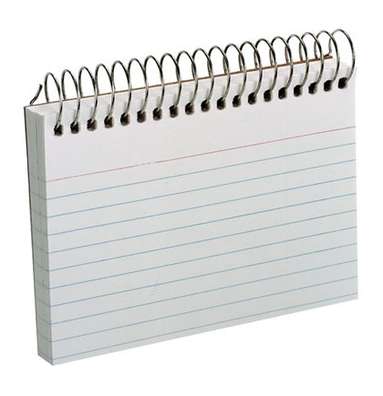 50ct White Ruled Spiral Index  Cards    Each
