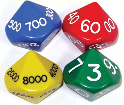 8ct Place Value Dice